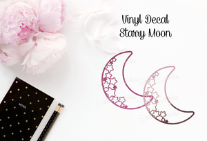 Vinyl Decal - Starry Moon