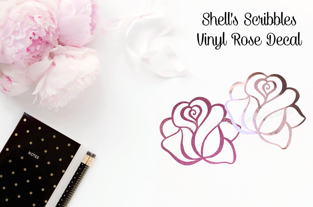 Vinyl Decal - Rose