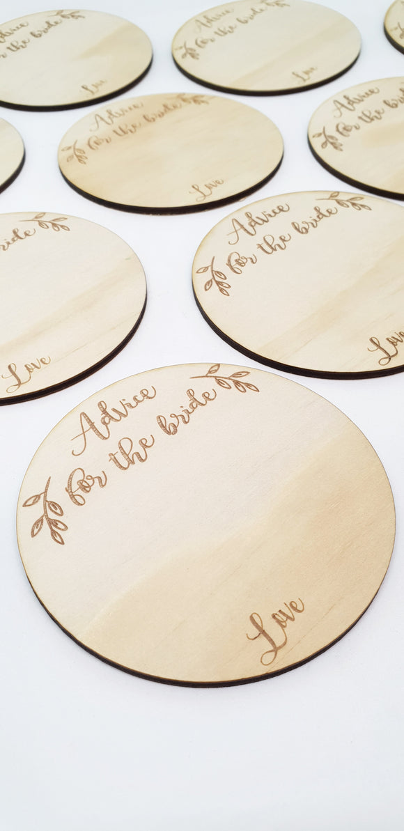 Advice for the Bride discs