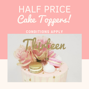 HALF PRICE Cake Topper *READ CONDITIONS BEFORE PURCHASE*