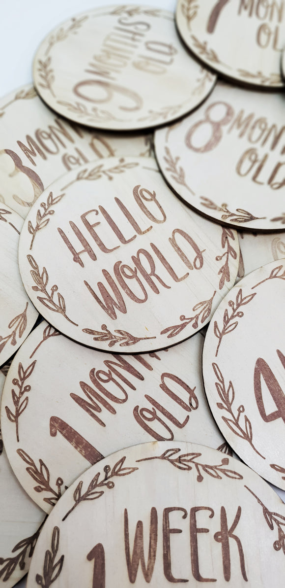 Wreath Milestone Discs - Baby Sets