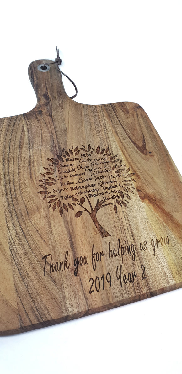 Thank You For Helping Me Grow Paddle
