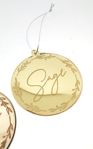 Personalised Christmas Bauble - Style #6