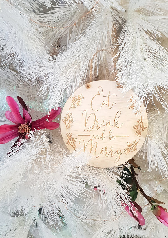 Eat, Drink & be Merry Christmas Sign