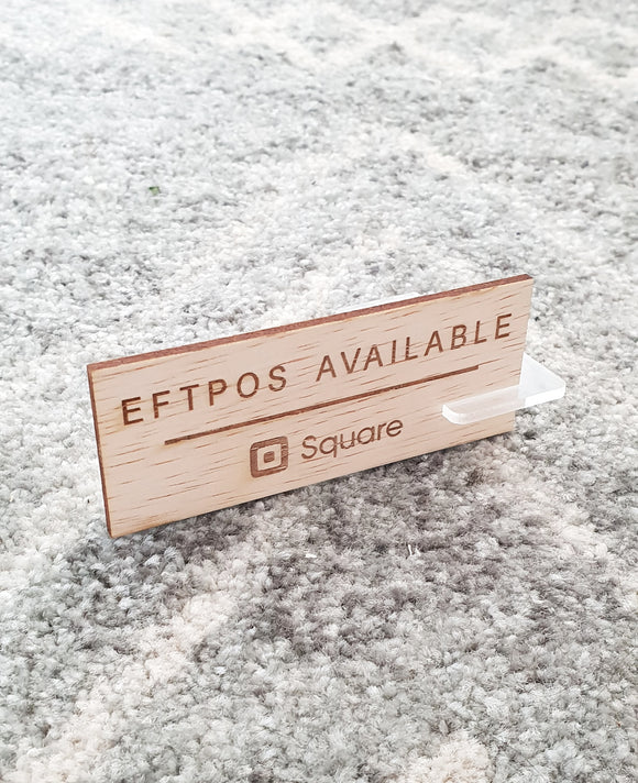 Eftpos Square Available Sign - Wholesale