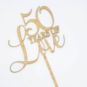 Years of Love Cake Topper