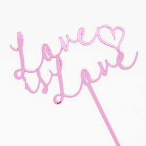 Love is Love Cake Topper