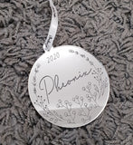 Personalised Christmas Bauble - Style #7
