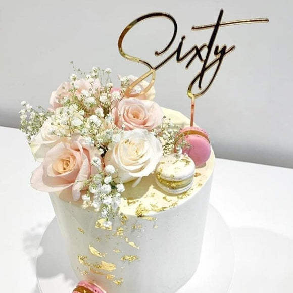 Sixty Cake Topper