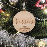 Personalised Christmas Bauble - Style #1