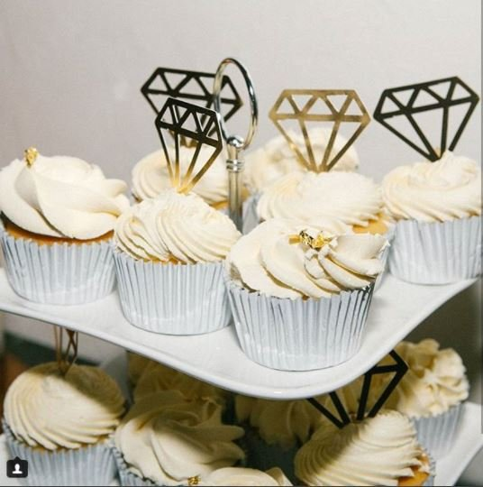 Diamond Cupcake Topper
