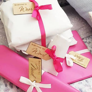 Want, Need, Wear, Read - Gifting Tags