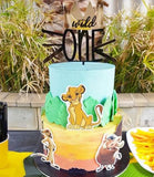 Wild One Crown Cake Topper