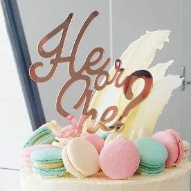 He or She? Cake Topper
