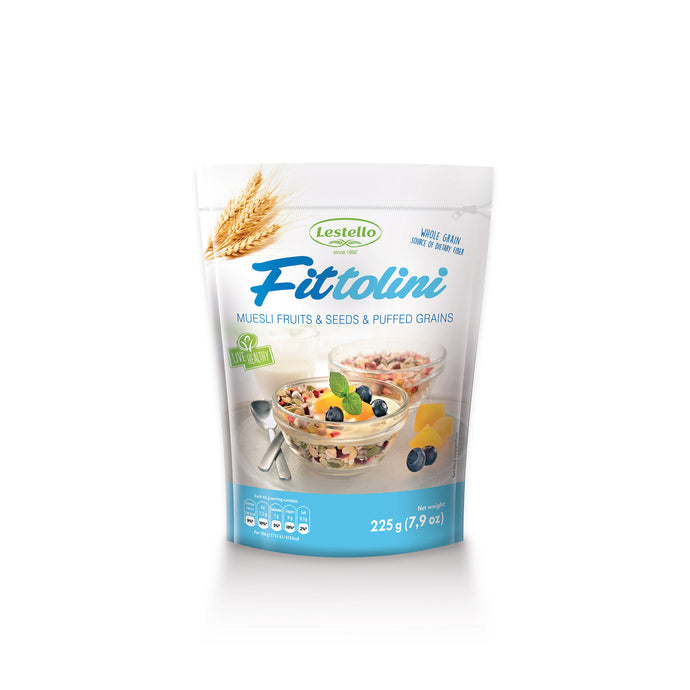 LESTELLO FITTOLINI MUSLI 225G FRUITS & SEEDS & PUFFED GRAINS