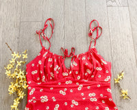 Red Blossom Dress