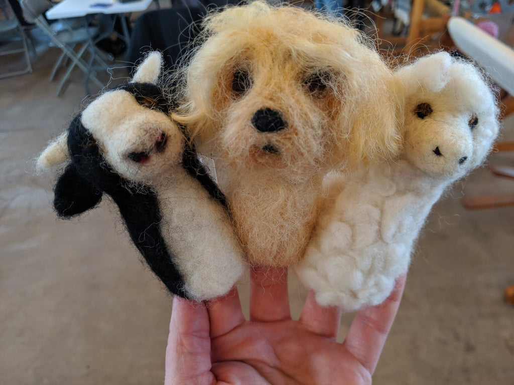 Needle Felted Animal Finger Puppet Workshop