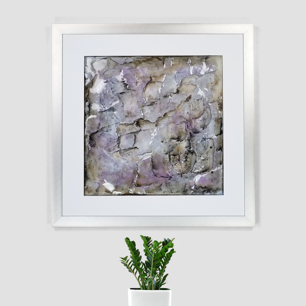 Violet Dillute | Gypsum Art by Gemstones Of Gypsum