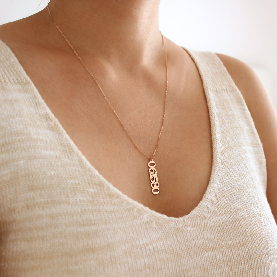 6 Numbers Necklace
