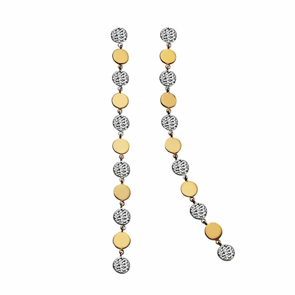 Jennifer Zeuner Jewelry Benita Earrings Two-Tone