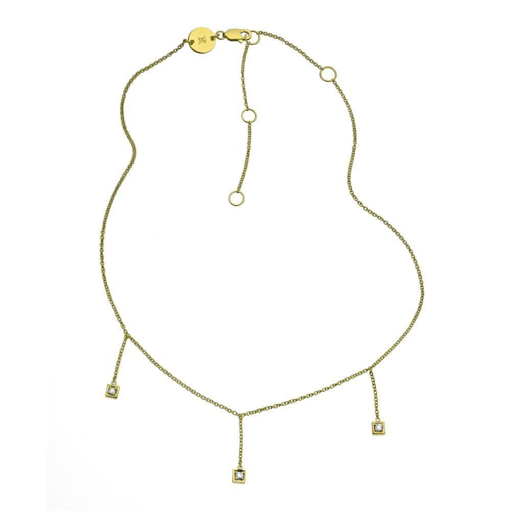 Jennifer Zeuner Jewelry Carmen Necklace stainless steel plated yellow gold