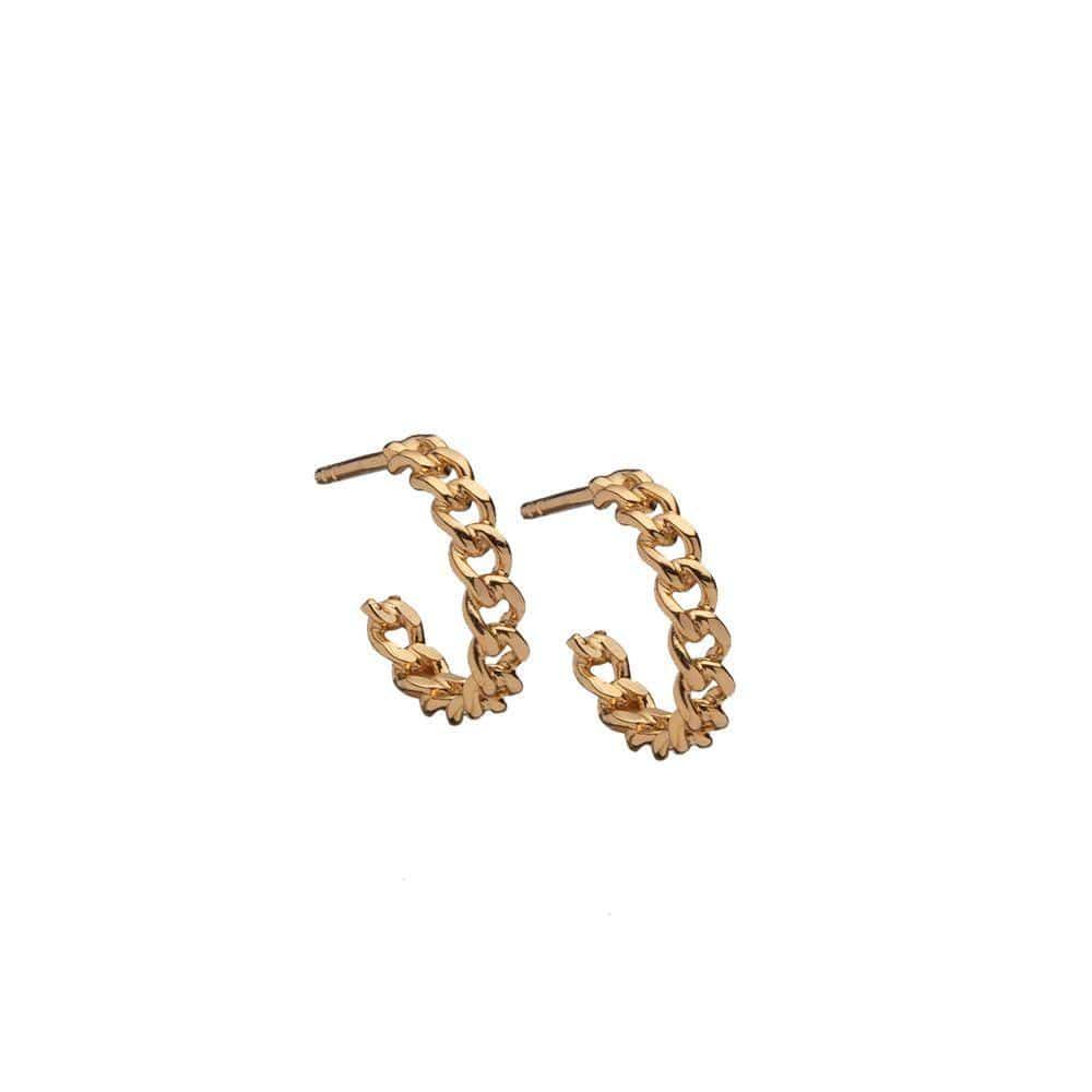 Jennifer Zeuner Jewelry Charly XS Hoops 14k yellow gold plated silver