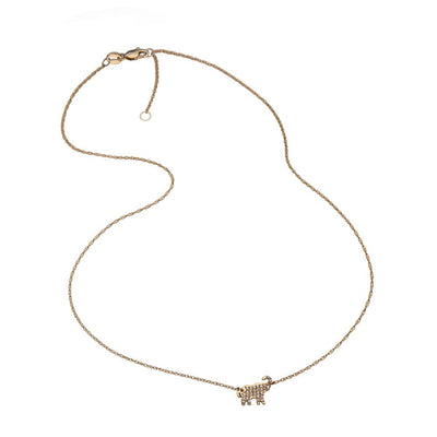 Delaney Pave 14K Necklace