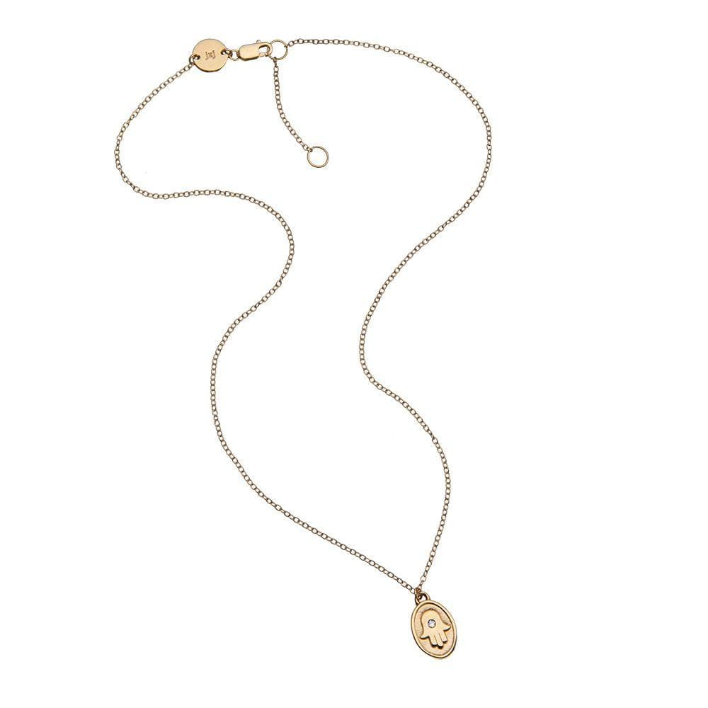 Jennifer Zeuner Jewelry Frankie Necklace Gold Vermeil