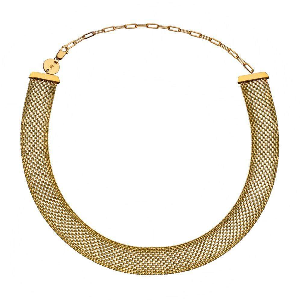 Jennifer Zeuner Jewelry Colette Necklace stainless steel plated yellow gold
