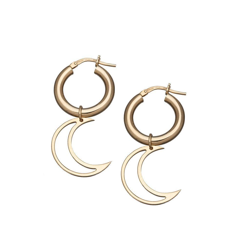 Jennifer Zeuner Jewelry Gillian Hoop Earrings 14k yellow gold plated silver