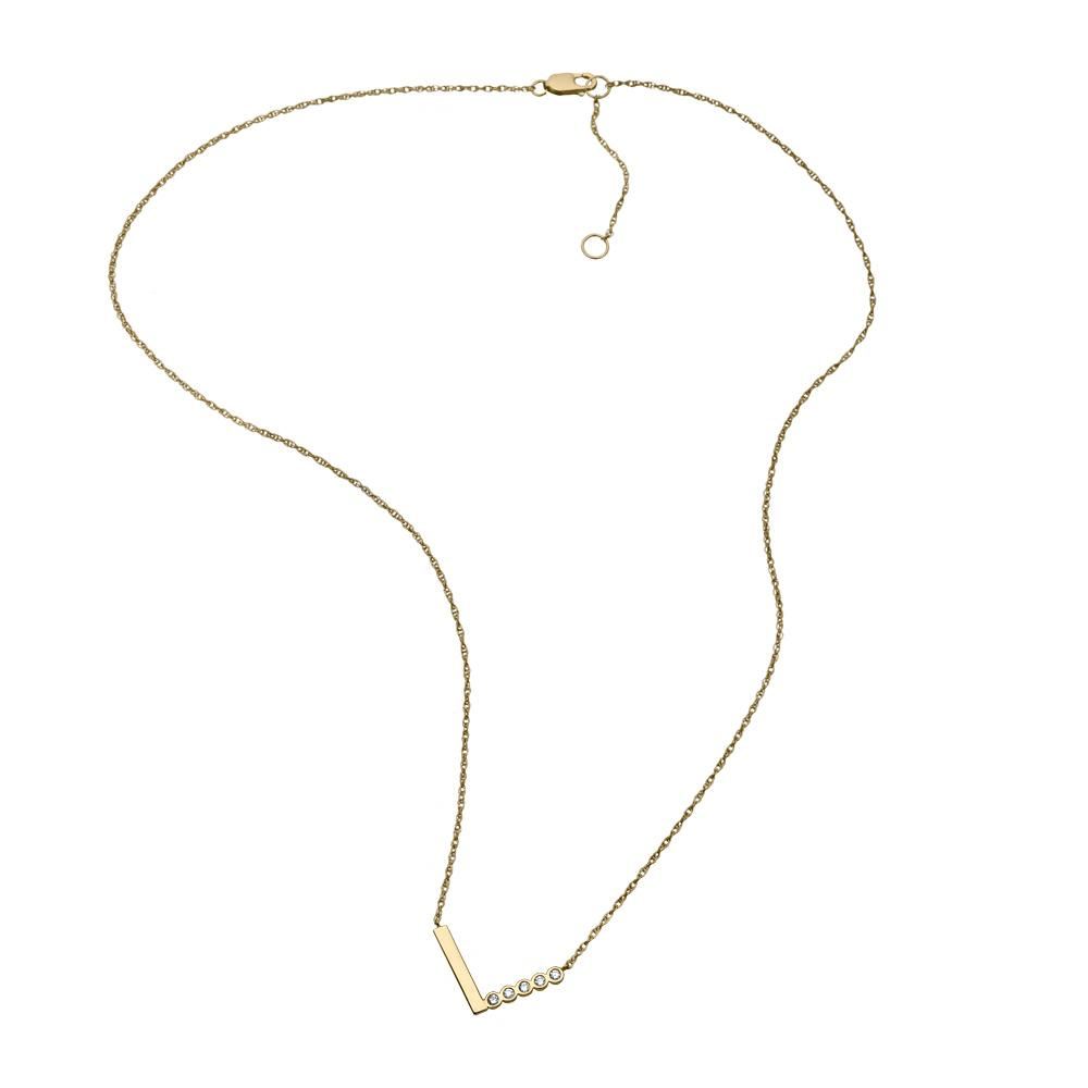 Jennifer Zeuner Jewelry Justine Diamond Necklace gold vermeil