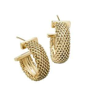 "Jennifer Zeuner Jewelry Lucia 1"" Hoops"