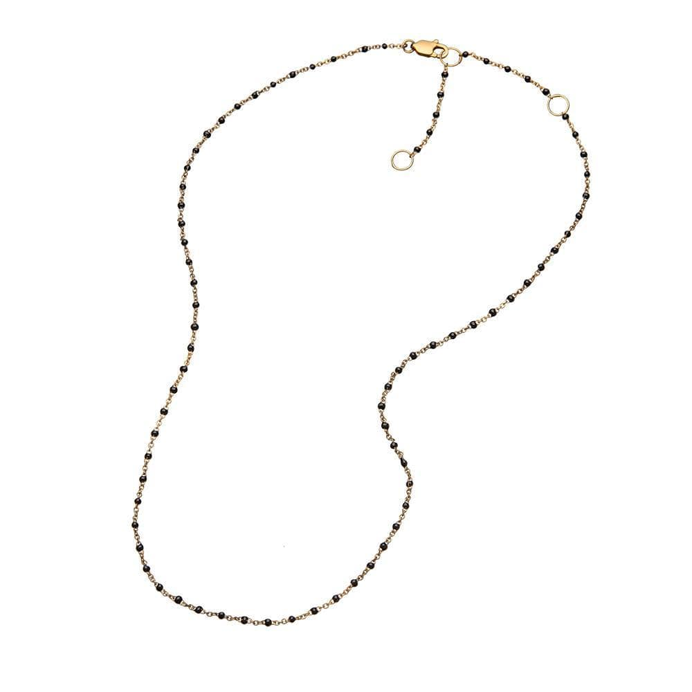 Jennifer Zeuner Jewelry Maira Necklace white enamel/ 14k yellow gold