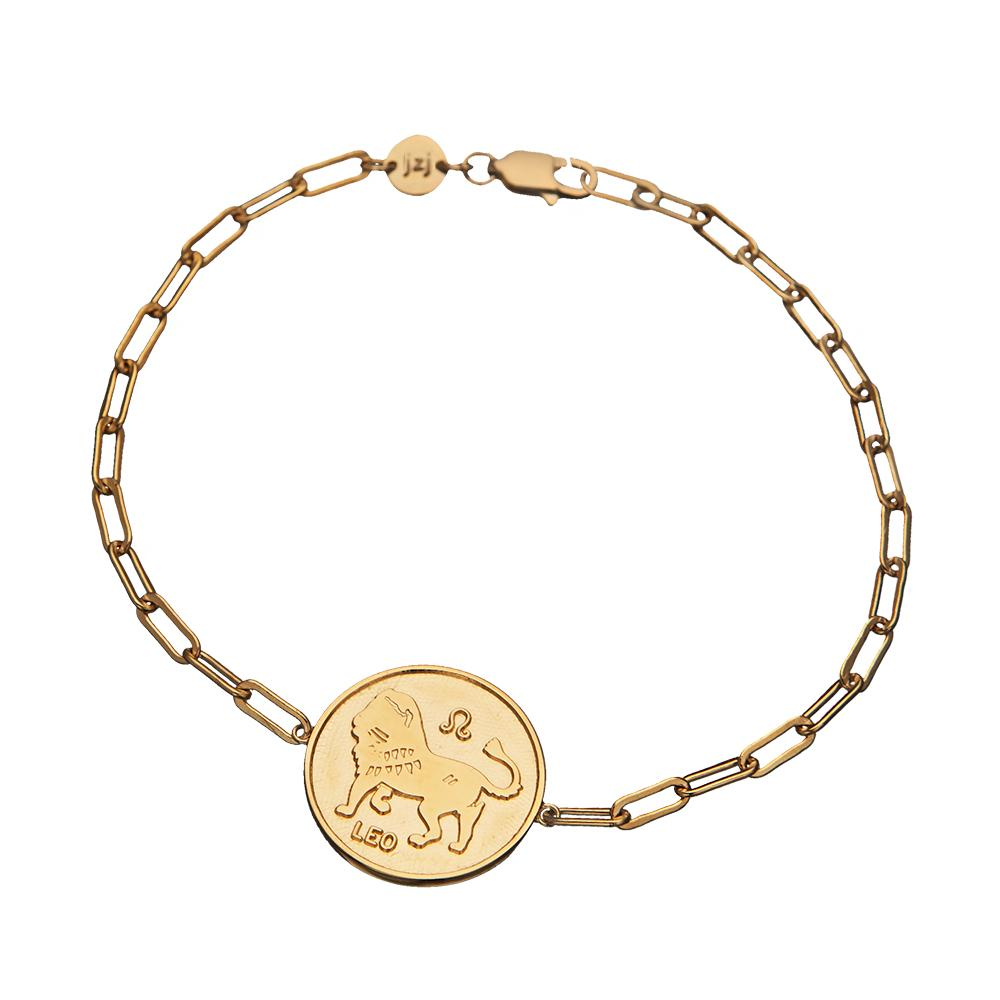 Jennifer Zeuner Jewelry Mathis Bracelet gold vermeil / aquarius