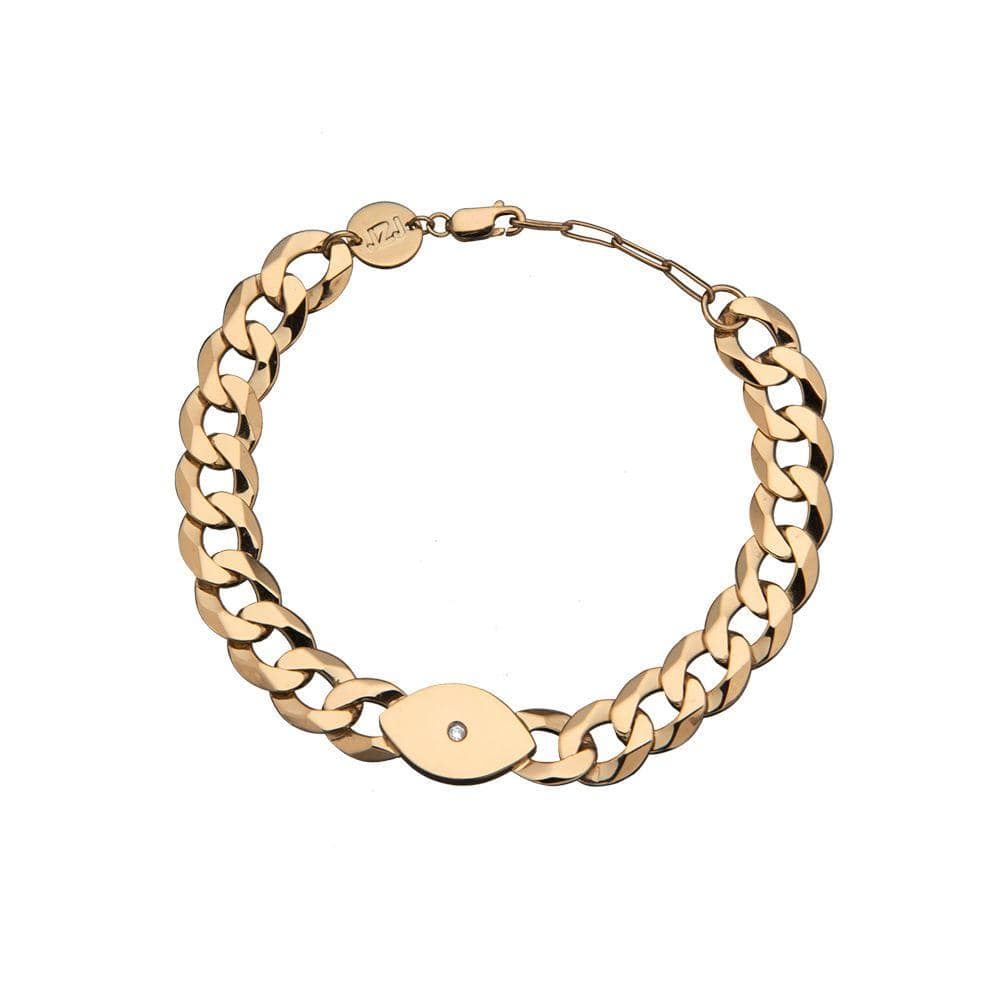 Jennifer Zeuner Jewelry Nessa Bracelet 14k yellow gold plated silver