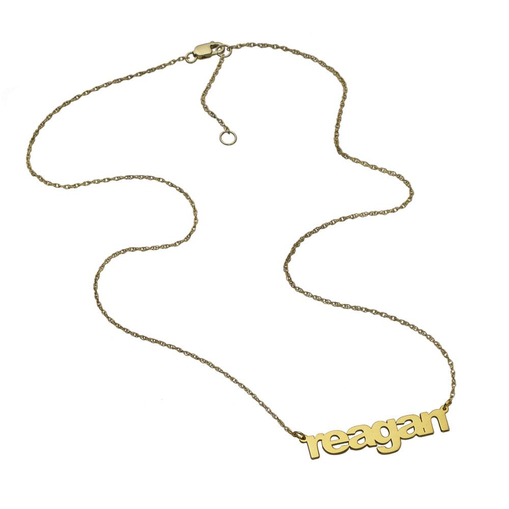Jennifer Zeuner Jewelry Reagan Nameplate Necklace