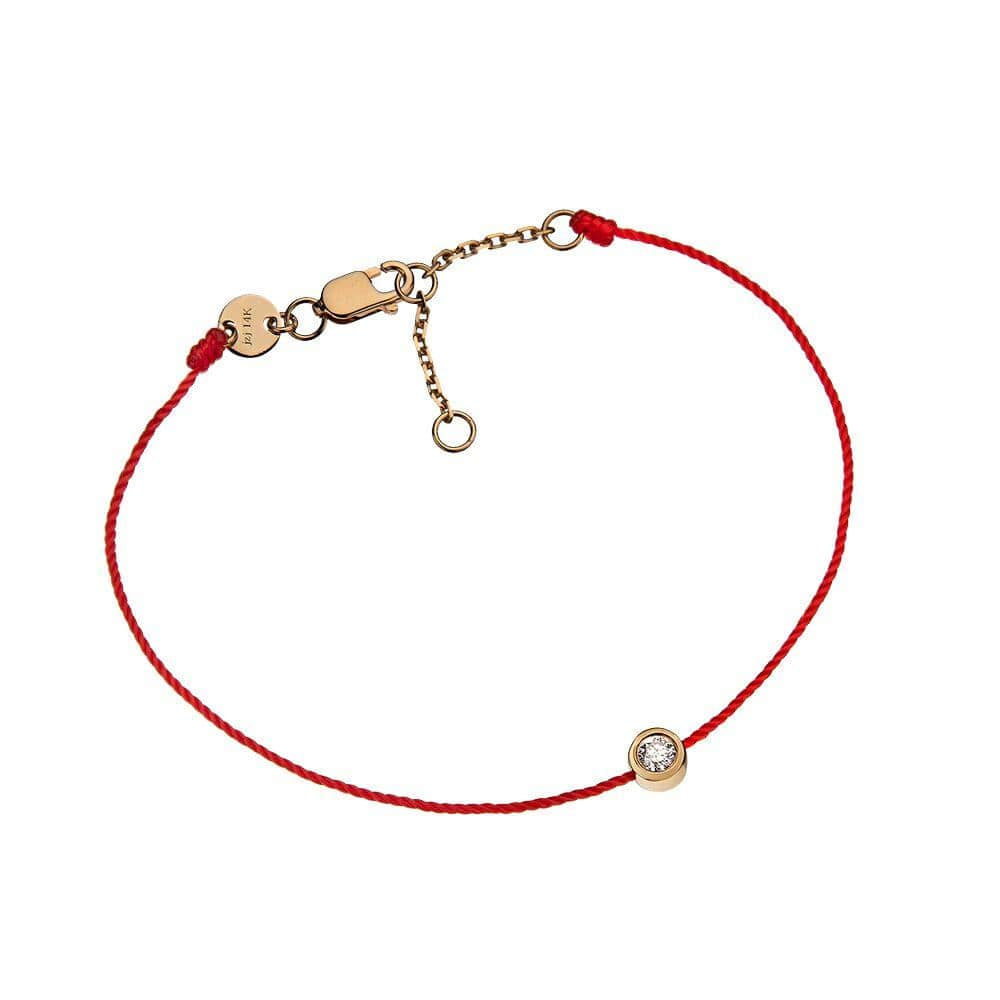 Jennifer Zeuner Jewelry Reina 14K Bracelet 14k yellow gold / Red