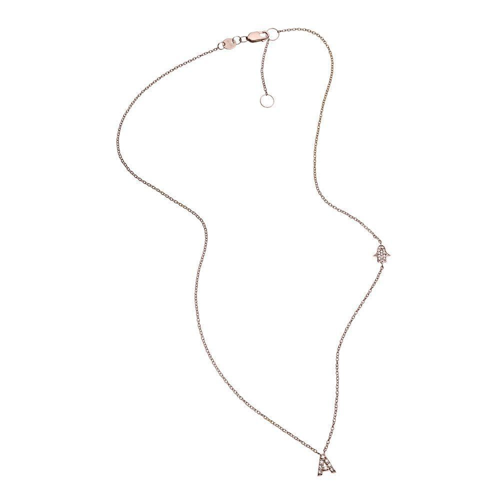 Jennifer Zeuner Jewelry Rumi 14k Necklace 14k rose gold