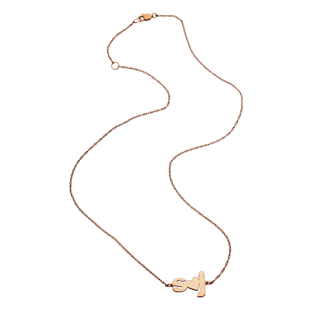Jennifer Zeuner Jewelry Sydney Necklace rose vermeil
