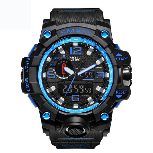 SMAEL 1545 Blue Multifunction Watch