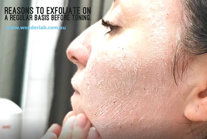 Tips for Skincare At-Home | Reasons to exfoliate on a regular basis before toning.