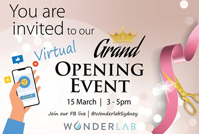 Wonderlab Virtual grand opening papmer party! sunday | 15 march