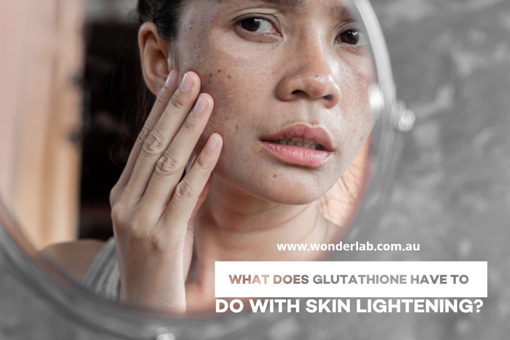 What does glutathione have to do with skin lightening?
