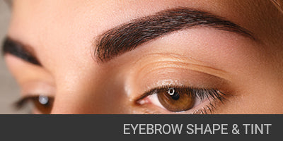 Eyebrows shape and tint
