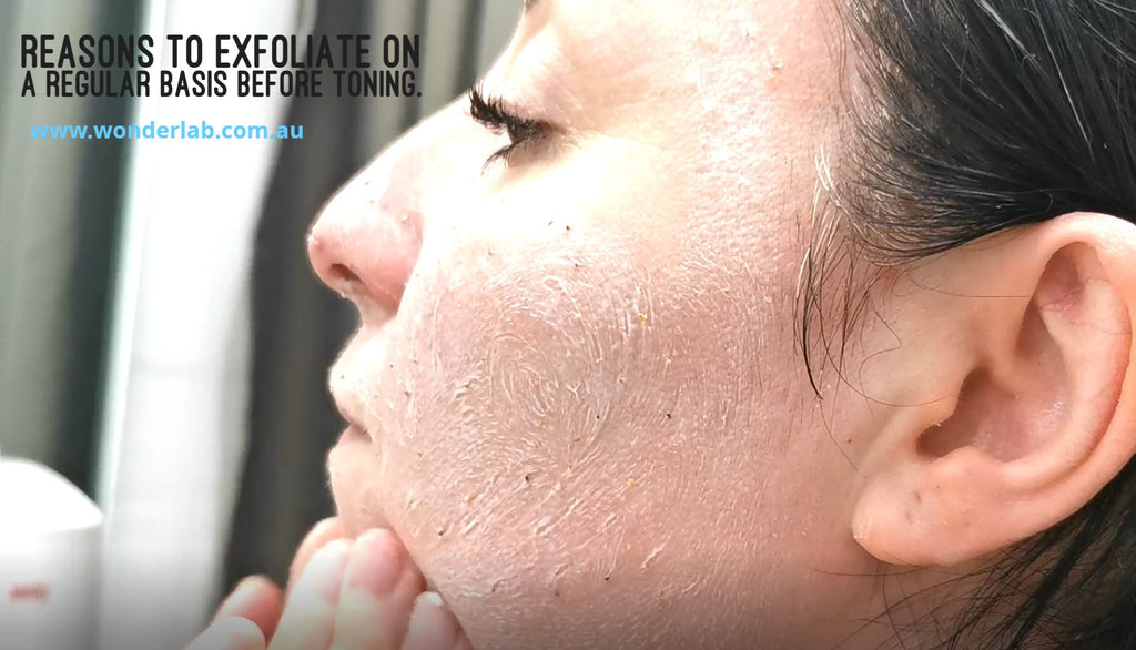 Reasons to exfoliate on a regular basis before toning