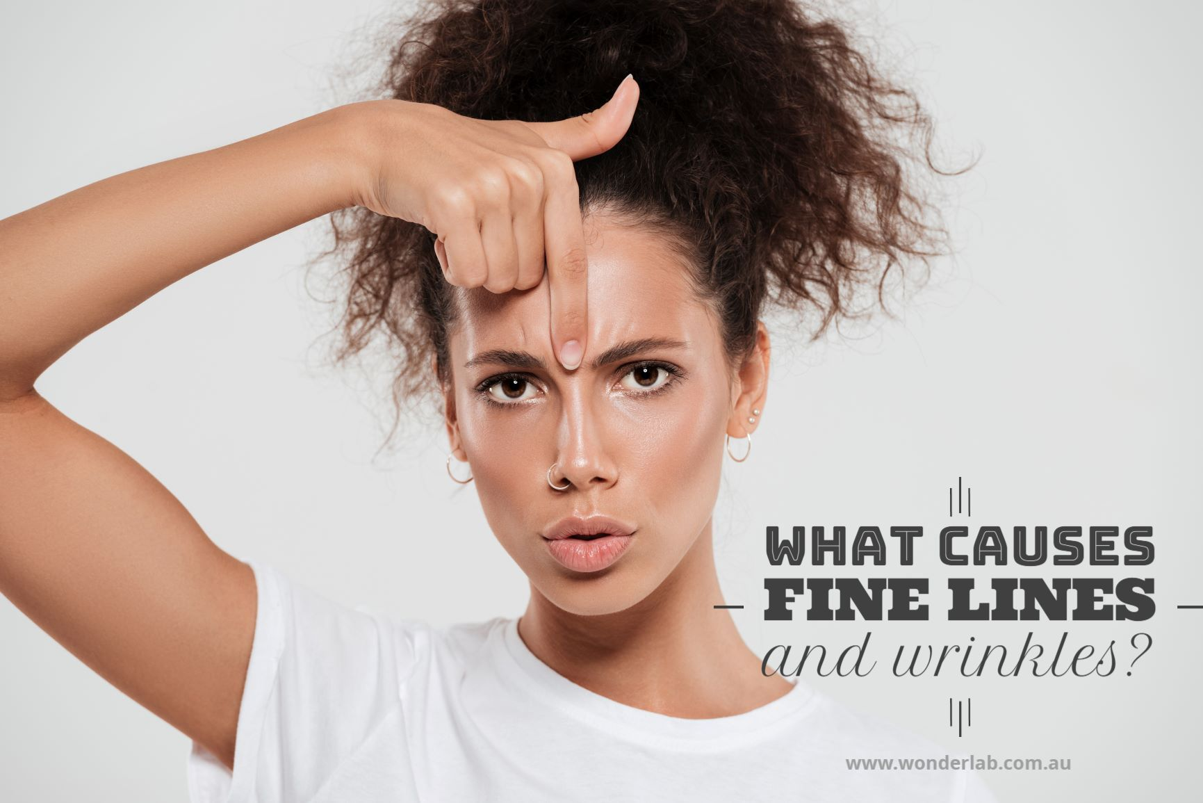 What causes fine lines and wrinkles?