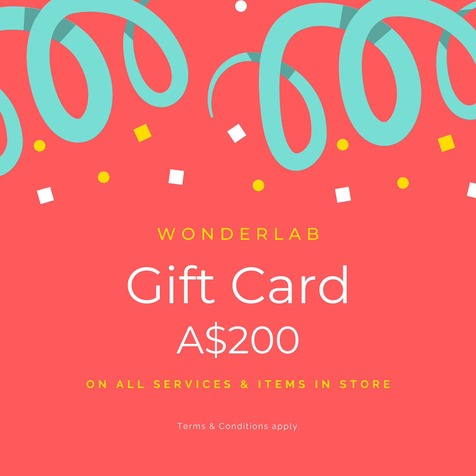Wonderlab Gift Card