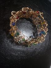 Load image into Gallery viewer, Crystal crochet cuff
