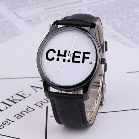 BLK CHIEF Quartz Watch - Genuine Leather - CHIEF Merch