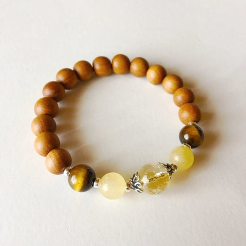 Fitted Gemstone Bracelet (Sandalwood) - CHIEF Merch